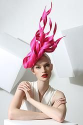 Pink Beret With Ribbons by Philip Treacy Philip Treacy Hats, Bh Set, Races Fashion, Gothic Fashion, Victorian Fashion, Fashion Fashion, Crazy Hats, Kentucky Derby Hats, Fancy Hats