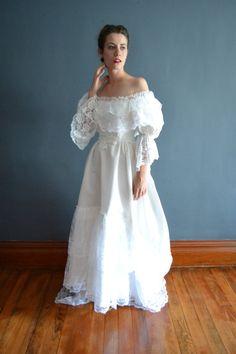 70s wedding dress / 1970s wedding dress / Stela by BreanneFaouzi, $168.00