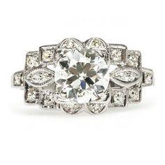 •Vintage Geometric Diamond Ring•