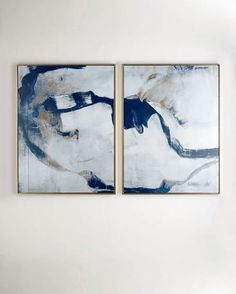 """""""Percussion"""" I & II Giclee Two-Piece Set Framed Wall Canvas Painting"""