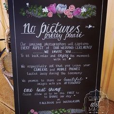 Unplugged wedding chalkboard sign. Hand drawn artwork and text. #chalkartmagic #wedding #unpluggedwedding #weddingsign #perthwedding #wawedding #perthchalkboardhire #mandurahchalkboardhire #sign #nopi  - chalkartmagic via Instagram