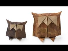 Simple origami Owl. Paper bird making - YouTube