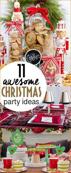 Top Party Ideas for a December Birthday. Amazing party themes for a Christmas party with friends, neighbors or family. Christmas party games, cookie swap and the grinch.