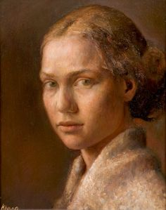 Self Portrait by Helene Knoop on Curiator, the world's biggest collaborative art collection. Selfies, Digital Museum, Collaborative Art, Portrait Art, Portrait Paintings, Oil Paintings, Face Art, Art Faces, Painting & Drawing