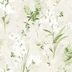 Brewster Home Fashions Rosemore x Henrietta Watercolor Wallpaper Roll Color: Green