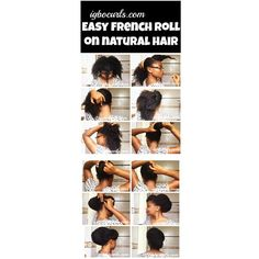 How I make my #frenchroll is up on #YouTube and here is a mini #pictorial #naturalhair