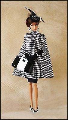 OOAK Fashions for Silkstone / Vintage barbie / Fashion Royalty -- With pockets. What a chic collector outfit! Barbie Fashionista, Beautiful Barbie Dolls, Vintage Barbie Dolls, Barbie Fashion Royalty, Fashion Dolls, Barbie Dress, Barbie Clothes, Barbie Outfits, Barbie Style