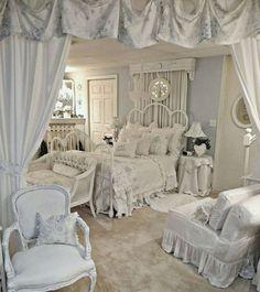 21 ideas para una habitación shabby chic                                                                                                                                                                                 More