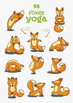 11 models fox vector yoga PNG and Vector Yoga Illustration, Fox Art, Cute Chibi, Yoga For Kids, Yoga Challenge, Yoga Meditation, Stone Painting, Spirit Animal, Illustrations