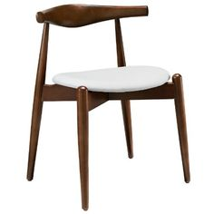 Plutus Brands MF0480 Dining Side Chair, Dark Walnut White