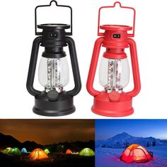 Portable 16 LED Rechargeable Fishing Camping Lamp Light With Compass