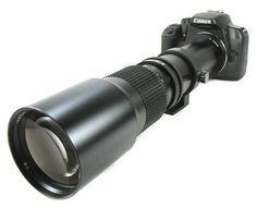 BOWER 500mm Preset Telephoto Lens for Canon dSLR XS