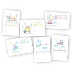 Land, Sea, and Air Travel Classroom Valentines Day Exchange Cards - 48 Cards Air Travel, Valentine Day Cards, Cool Cards, Greeting Cards, Packing, Place Card Holders, Sea, Friends Family, Children