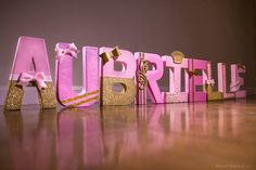 21 trendy baby shower pink and gold letters. 21 trendy baby shower pink and gold letters Name Decorations, Girl Baby Shower Decorations, Girl Decor, Baby Shower Themes, Shower Ideas, Minnie Mouse Baby Shower, Baby Shower Princess, Gold Letters, Wooden Letters