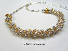 Kumihimo Necklace Crystal Kumihimo Necklace by DivineReflections, $40.00