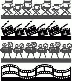 Silhouette Online Store - View Design #61131: cinema borders set