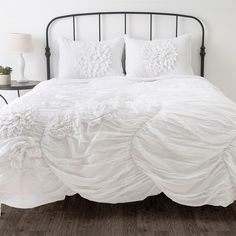 lillesand bed from ikea with white bedding