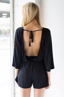 Got Back Backless Playsuit - Black