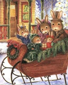 "Susan Wheeler (b.1955) — ""Holly Pond Hill Christmas Treasury"" by Paul Kortepeter  (602x705)"
