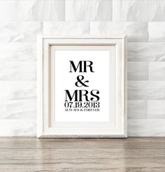 Custom Wedding Anniversary Print Download by KNS Digital #customnamesign #rusticfarmhouse #rusticchic #modernhomedecor #entrywayprint #fireplaceprint #anniversarygift #weddingpresent #mrandmrs #weddingsign #weddingdecor #engagementgifts