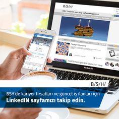 BSH'de kariyer fırsatları ve güncel iş ilanları için LinkedIN sayfamızı takip edin.