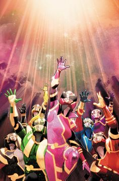 Mighty Morphin⚡Power Rangers No. the Beyond The Grid finale, is out today! Cover art by Power Rangers Fan Art, Power Rangers Comic, Power Rangers Series, Power Rangers Zeo, Pink Power Rangers, Pawer Rangers, Mighty Morphin Power Rangers, Gi Joe, Comic Art