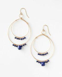 Lulu Designs Large Beaded Double Hoop Earrings