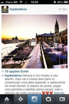 Dica de restaurante em Veneza! Chique!