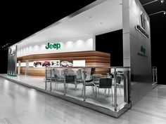 Exhibition stand for Jeep