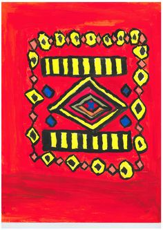 Title: Mexican Delight painting Artist / Scheme: Mary & Margaret Jacob / Blackham House Medium: Acrylic