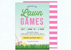 lawn party | croquet | lawn games | bocce ball
