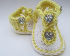 Crochet sandalias de bebé zapatos de bebé bebé niña