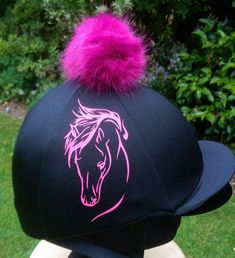 8d42e0f0496 Faux Fur Pom Pom Riding Hat Cover Silk Equestrian horse elegance