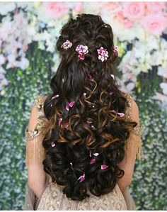 Fancy Hairstyles 40 wedding hairstyle ideas for bridal and Bridalmaid.Fancy Hairstyles 40 wedding hairstyle ideas for bridal and Bridalmaid Bridal Hairstyle Indian Wedding, Bridal Hair Buns, Wedding Hairstyles For Medium Hair, Bridal Hairdo, Wedding Hair Down, Wedding Hairstyles For Long Hair, Elegant Hairstyles, Indian Hairstyles, Bride Hairstyles