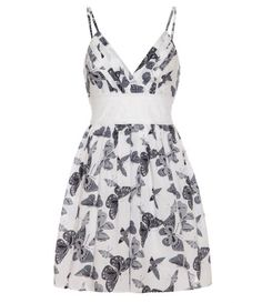 Mela Loves London Butterfly print sundress, White