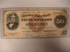 #1192: $50.00 Note Gold Coin Rosecrans-Huston - Realized Price: $13,000.00