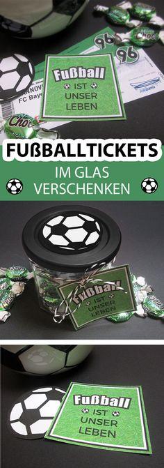 Geldgeschenke Fußball. Geschenke verpacken. Hier eine Idee ...