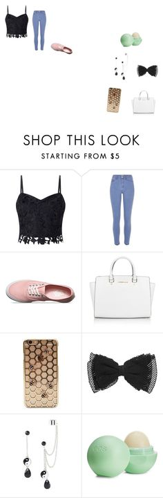 """Cute"" by ivieoww on Polyvore featuring Lipsy, River Island, Vans, Michael Kors and Eos"