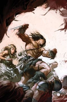 King Conan: Hour of the Dragon n°5. Cover by Gerald Parel.