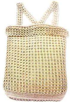 SODA POP Tabs Backpack Shoulder Bag Handbag Artisan Handmade Neide Ambrosio