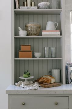 kitchen shelving ideas, kitchen cabinets, kitchen design, cottage kitchen Kitchen Shelves, Kitchen Cabinets, Home Decor Inspiration, Design Inspiration, Floating Shelves, Kitchen Design, Product Launch, House Design, Houses