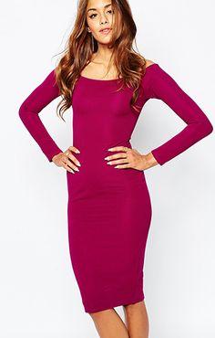 ASOS(エイソス) の女性らしい奇麗なラインを表現してくれるタイトワンピース(Missguided Long Sleeve Off The Shoulder Bodycon Dress)です。通販だからできる割引価格でお届けします。
