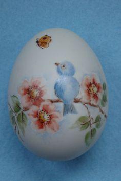 Vintage Hand Painted Porcelain Bluebird Easter Egg on Etsy, $25.00