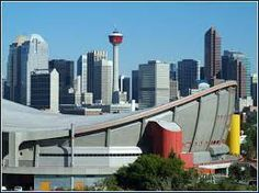 Calgary, Alberta, Canada - the Calgary Tower, and Saddledome (Home of the Calgary Flames and the Calgary Stampede! O Canada, Alberta Canada, Seoul Skyline, Places To Travel, Places To Visit, Tens Place, Staycation, Calgary, Places Ive Been