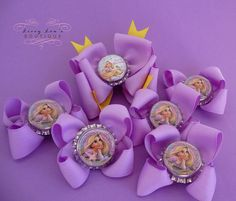 Tangled Rapunzel Party Pack Set of 6 Bows 1 by LivvyLousBoutique, $22.50
