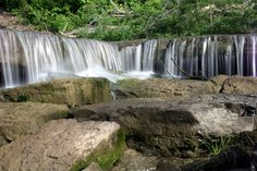These 10 Hidden Waterfalls In Kansas Will Take Your Breath Away. Shown: Pillsbury Crossing (Riley County)