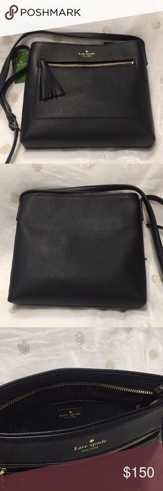 NEW Kate Spade Chester Street Dessi Crossbody bag BRAND NEW Kate Spade Chester Street Dessi Crossbody bag in black pebbled leather with adjustable strap. Zipper closure with outer zippered compartment with fringed tassel. kate spade Bags Crossbody Bags