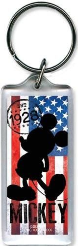 Disney Mickey Mouse 1928 USA lucite Plastic Keychain key chain