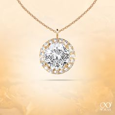 "Let autumn reflect it´s beauty. The ""Asseta"" pendant.#yorxs #asseta #diamant #anhänger #gelbgold"