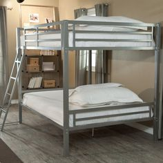 "Obtain fantastic recommendations on ""bunk bed designs for teens"". Obtain fantastic recommendations on ""bunk bed designs for teens"". They are on call for you on our website. Full Size Bunk Beds, Adult Bunk Beds, Triple Bunk Beds, Kids Bunk Beds, Loft Beds, Full Bed, Camas Murphy, Sharing Bed, Garage Organization"